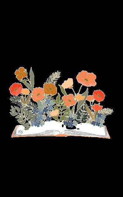 bohemian floral book illustration
