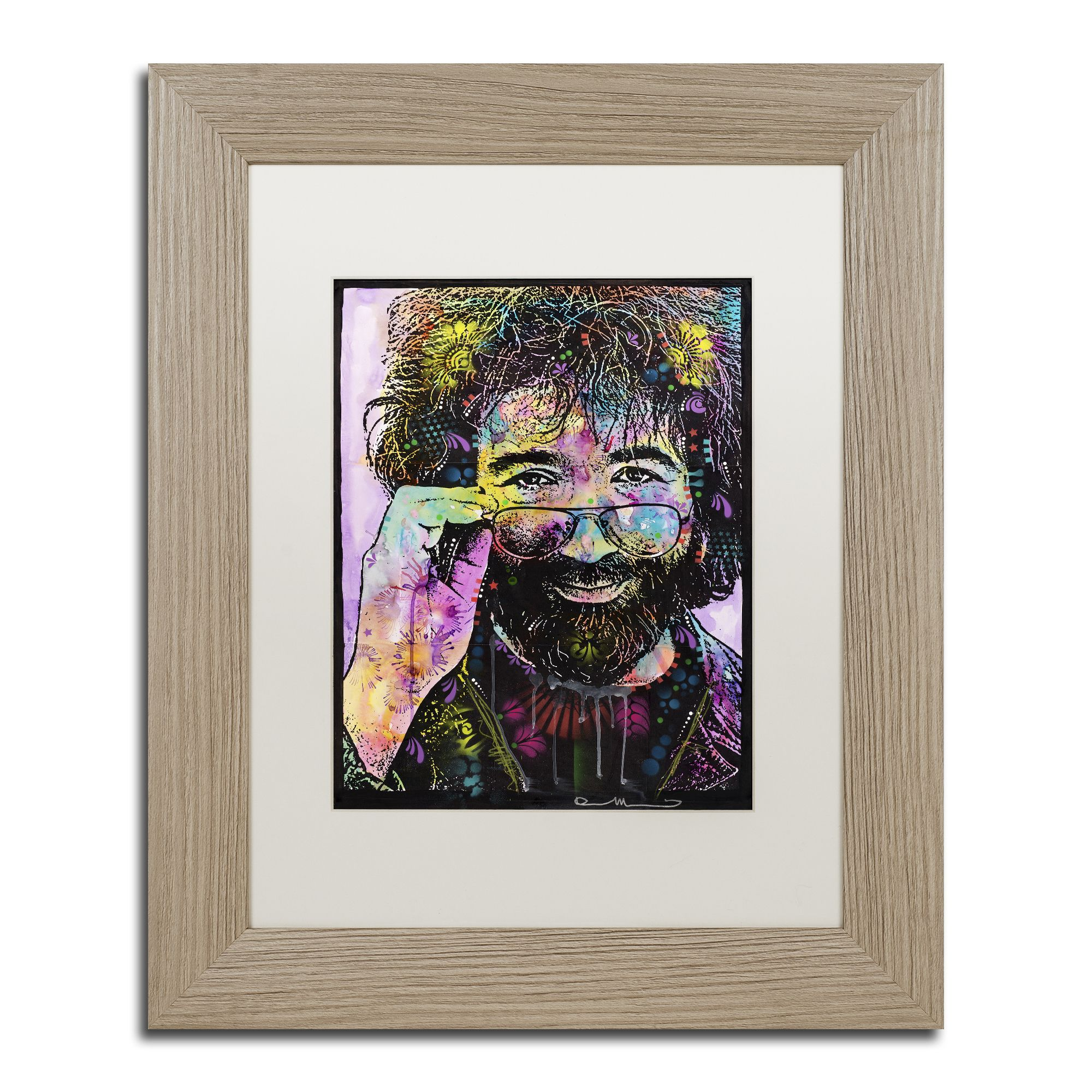Trademark Art Jerry Garcia By Dean Russo Framed Graphic Art