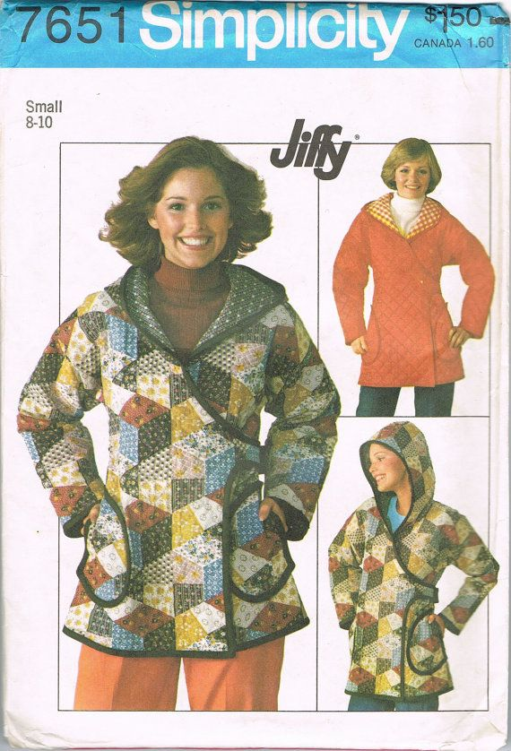 Uncut Unlined Hooded Jacket Pattern  Small 8 10 by NeesysOtherLife