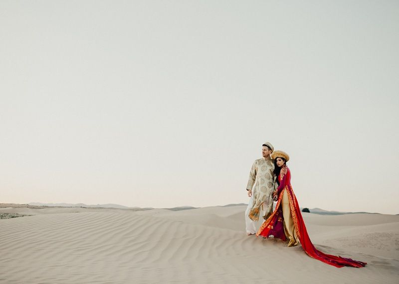Thuy And Chad Bridal Shoot In The Dunes Vietnamese Wedding