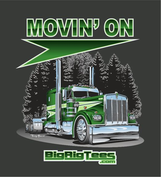 423e388fa Movin' On. T-shirt design for BRT's retail line of T-shirts. Kenworth W-925.