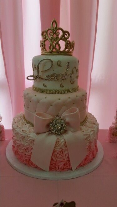 Cake Royal Princess Baby Shower Royal Princess Gold And Pink