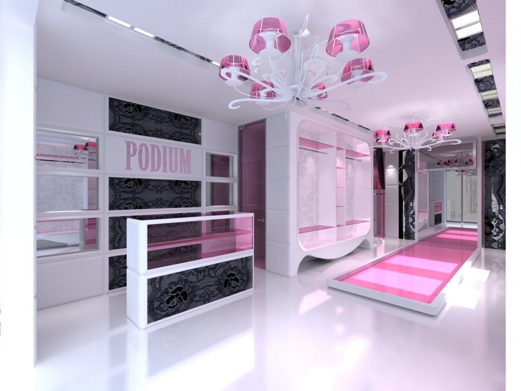 Beauteous Cloth Store Interior Design  Types Clothing