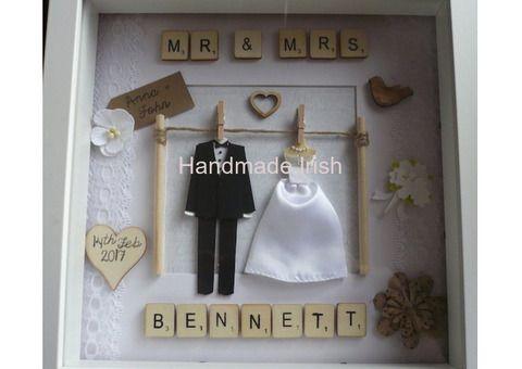 Handmade Personalised Keepsakes Personalised Keepsakes Wedding Scrabble Frame Wedding Gift Diy