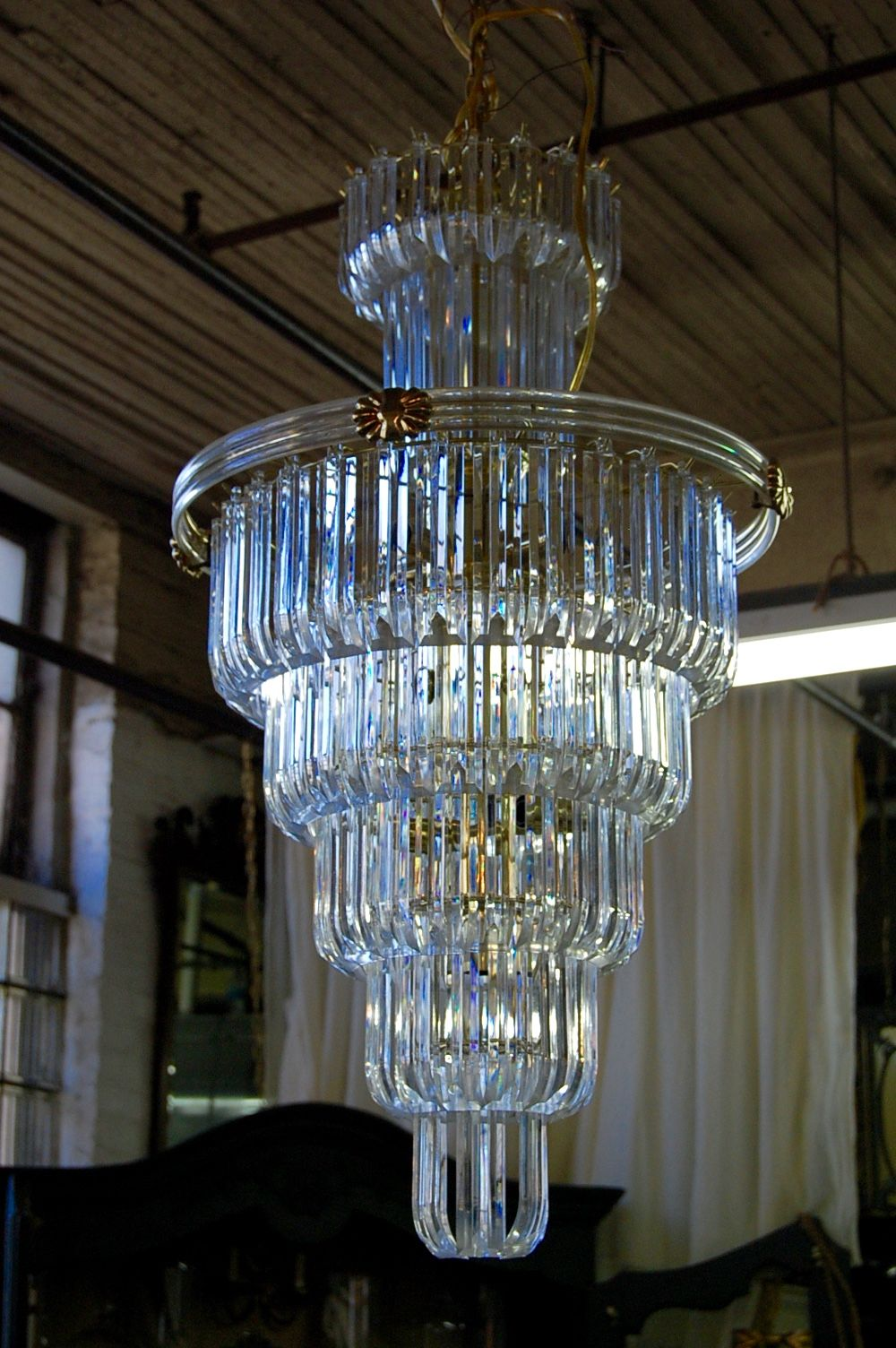 Shop Large Vintage Lucite Seven Tier Chandelier from The Savoy Flea in  Chicago. - Large Vintage Lucite Seven Tier Chandelier Lighting Pinterest