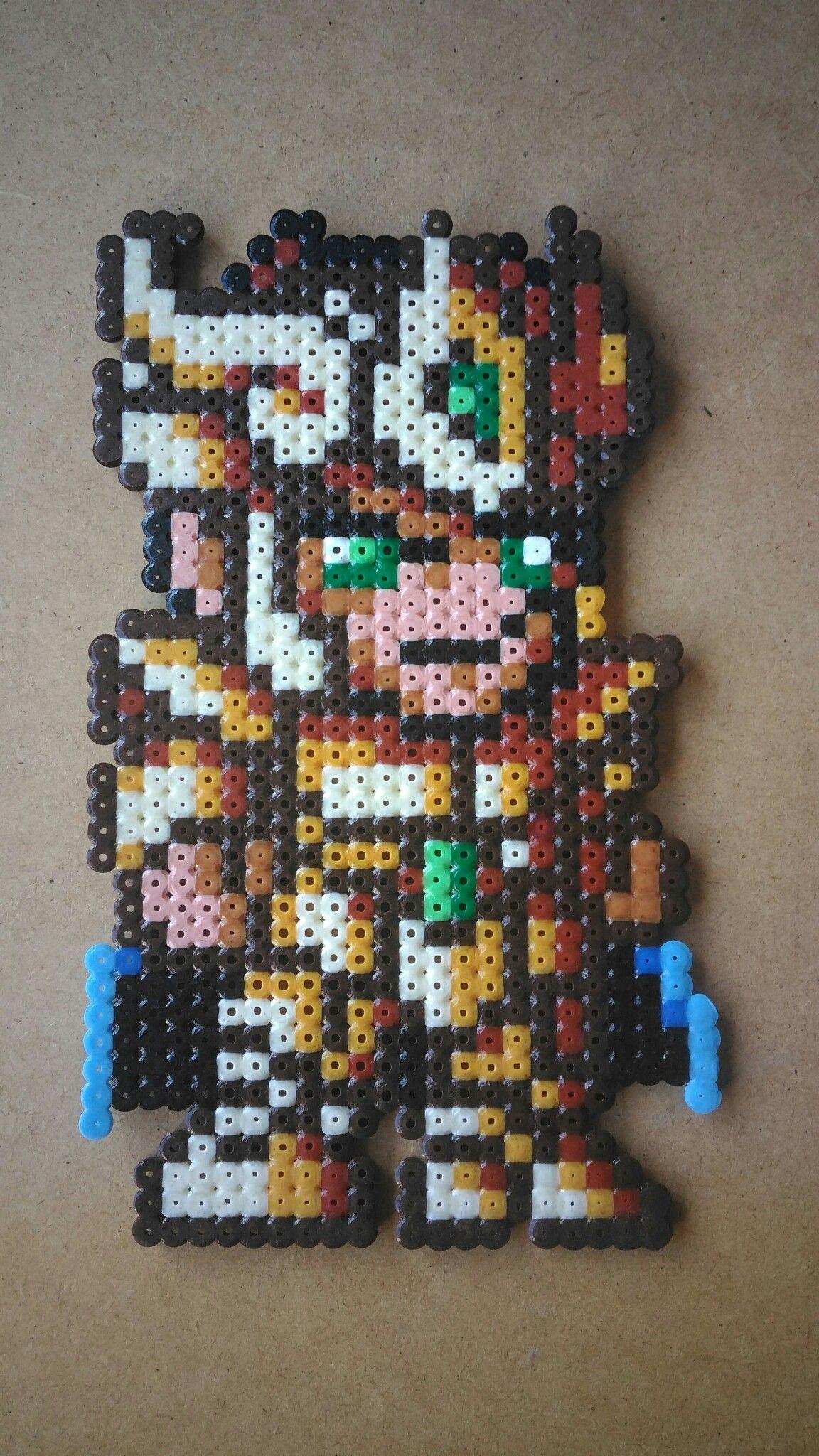 Perles à repasser - Bead sprite perler pixel art Shiryu Saint Seiya