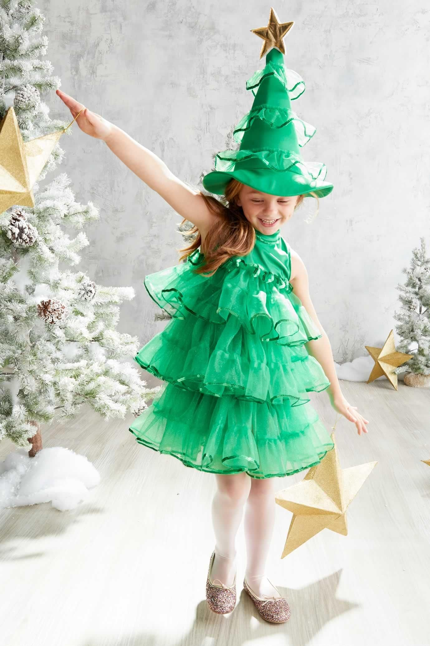 Glitter Tree Dress Costume For Girls Tree Costume Christmas Tree Dress Christmas Tree Costume