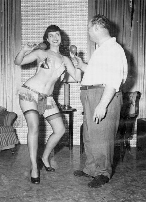 Irving Klaw and Bettie Page shot by Paula Klaw. | Bettie ...