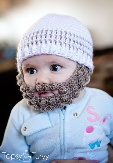 Crochet Bobble Beard Pattern Multiple Sizes Crochet Baby Baby