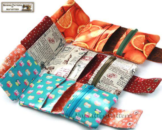 Trifold wallet sewing pattern,wallet pattern,Tri fold wallet ...