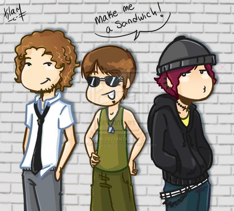 me and my co-working artist friends... if we were boys :p