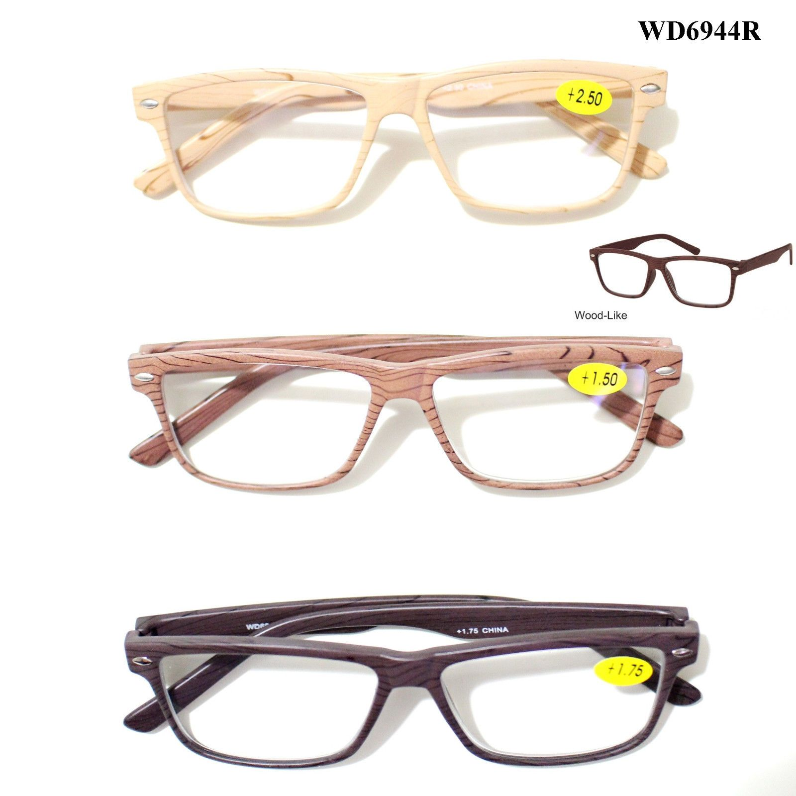 WoodLike Reading Glasses Reader Clean Lens 1.00 1.25 1.50