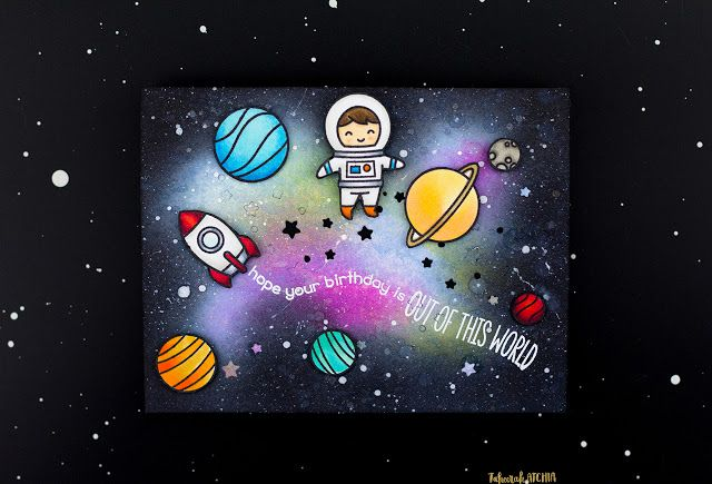A Dramatic Out of This World Card by Guest Blogger - Taheerah
