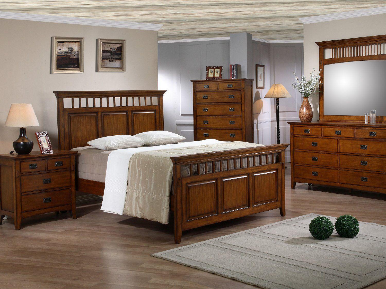 Trudy Panel Bedroom Suite King bedroom sets, Mission