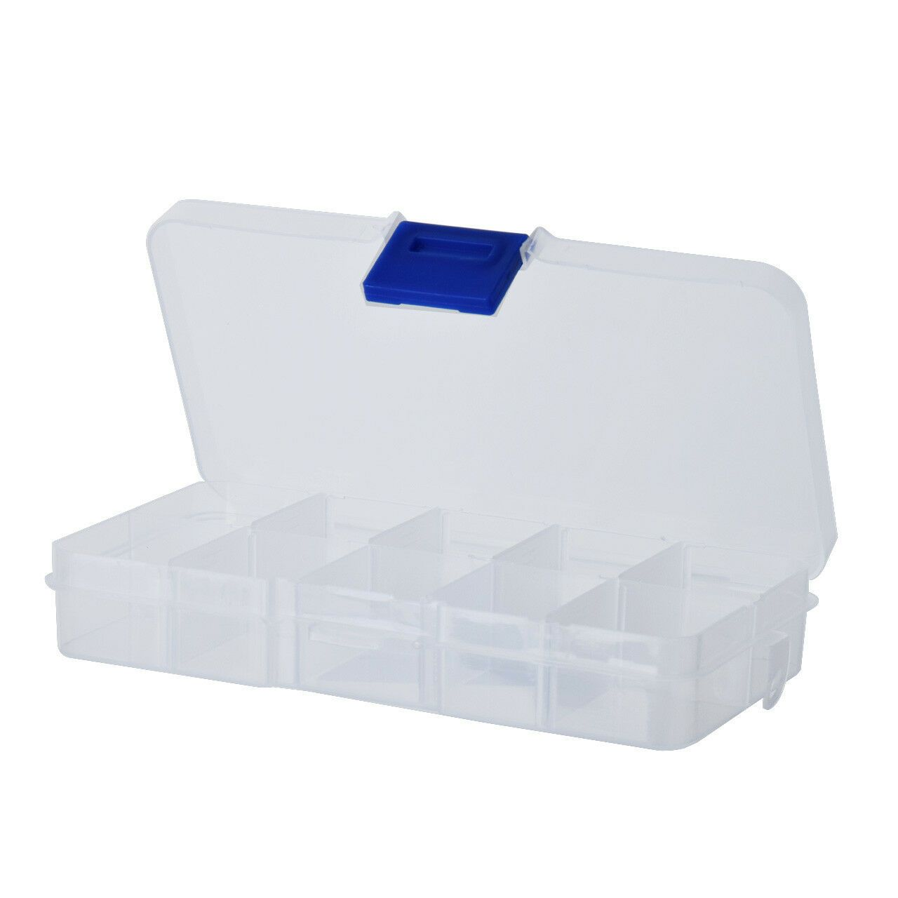 Plastic Storage Box Case For Jewelry Display Organizer 10 Compartment Lac Storage Conta With Images Plastic Box Storage Shoe Storage Clear Boxes Stackable Storage Bins