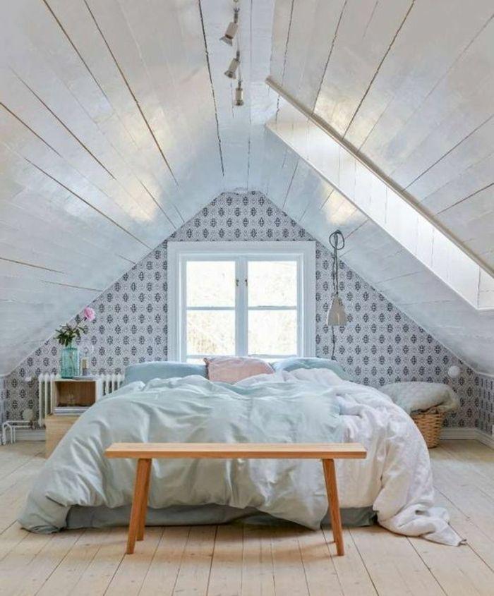 1001 Idees Deco De Chambre Sous Pente Cocoon Design De Chambre Mansardee Loft Deco Combles