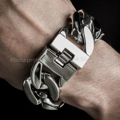 30mm Heavy Stainless Steel Bracelet Curb Link
