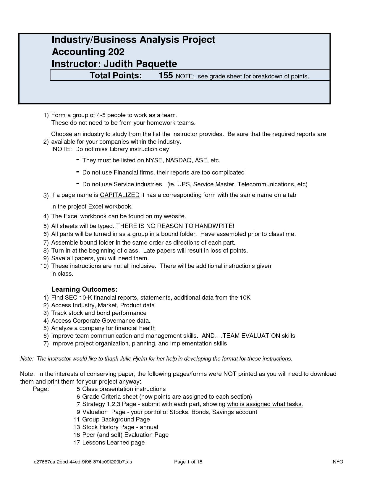 Business Analysis Project form Business analysis