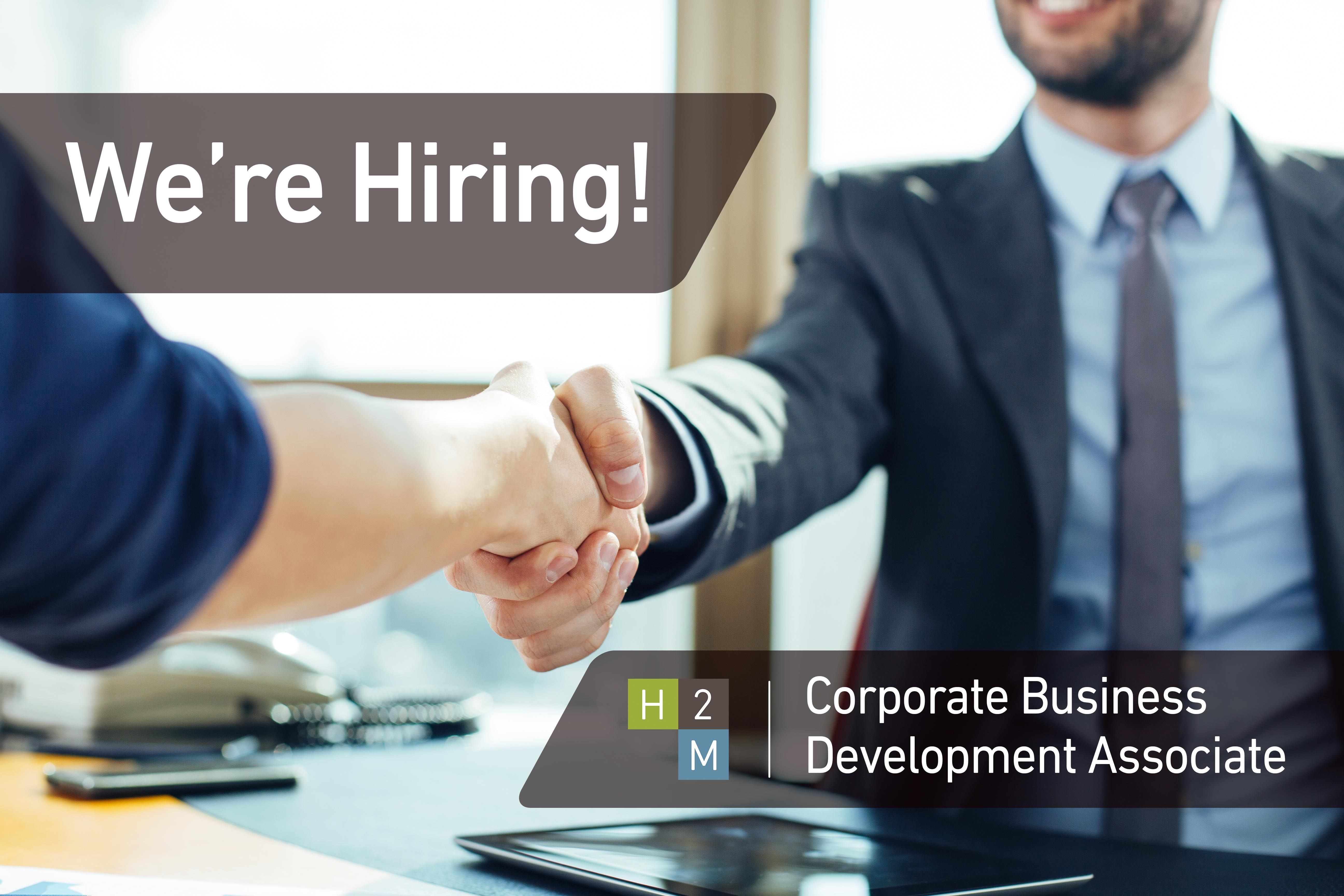 WeRe Hiring Corporate Business Development Associate Location
