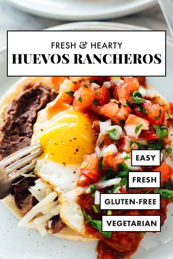These huevos rancheros are the best Huevos rancheros are made corn tortillas and fried eggs topped with plenty of warmed salsa Theyre a HEALTHY and HEARTY vegetarian reci...
