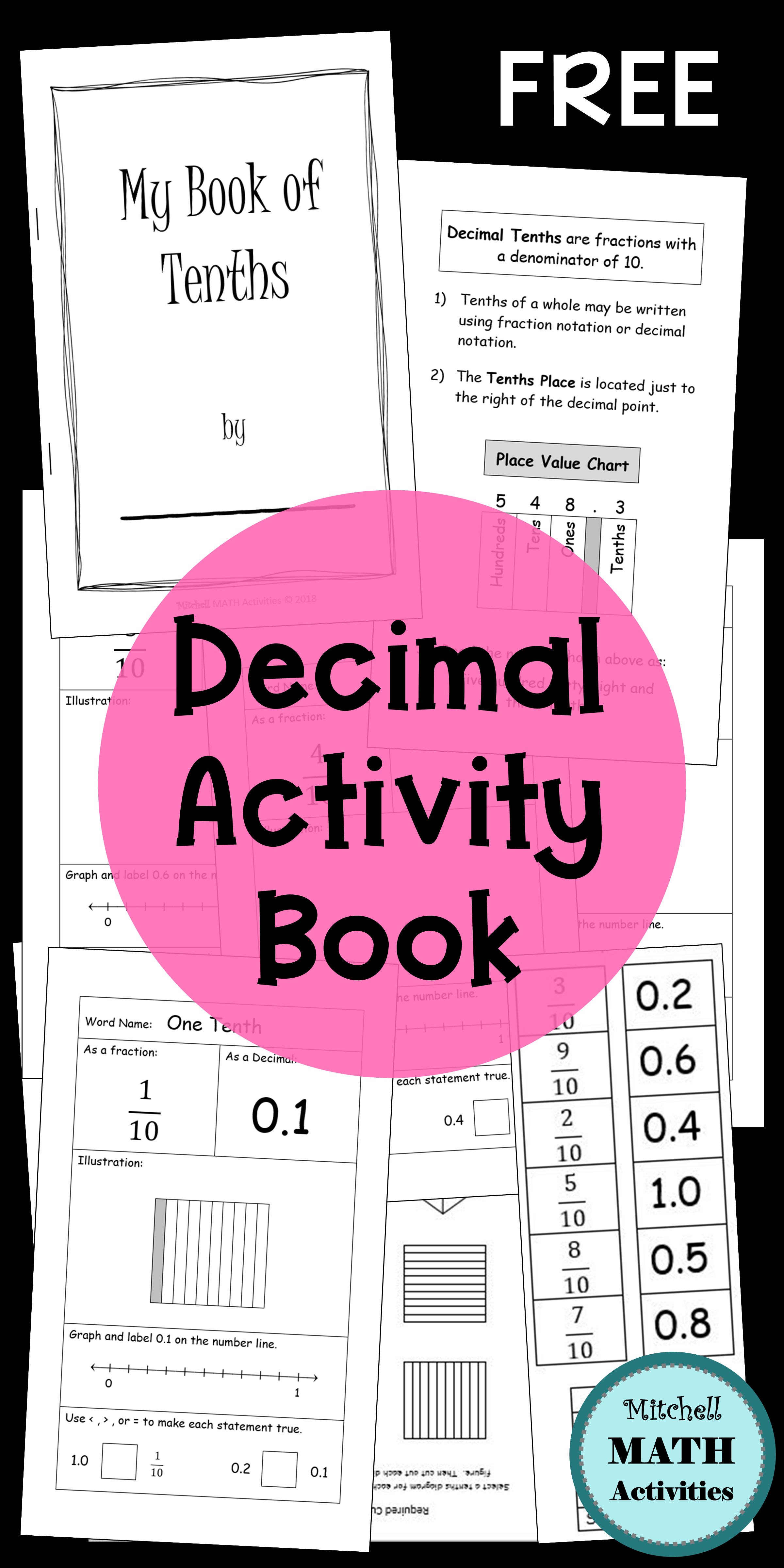 Hands On Activities For Decimal Tenths And Hundredths