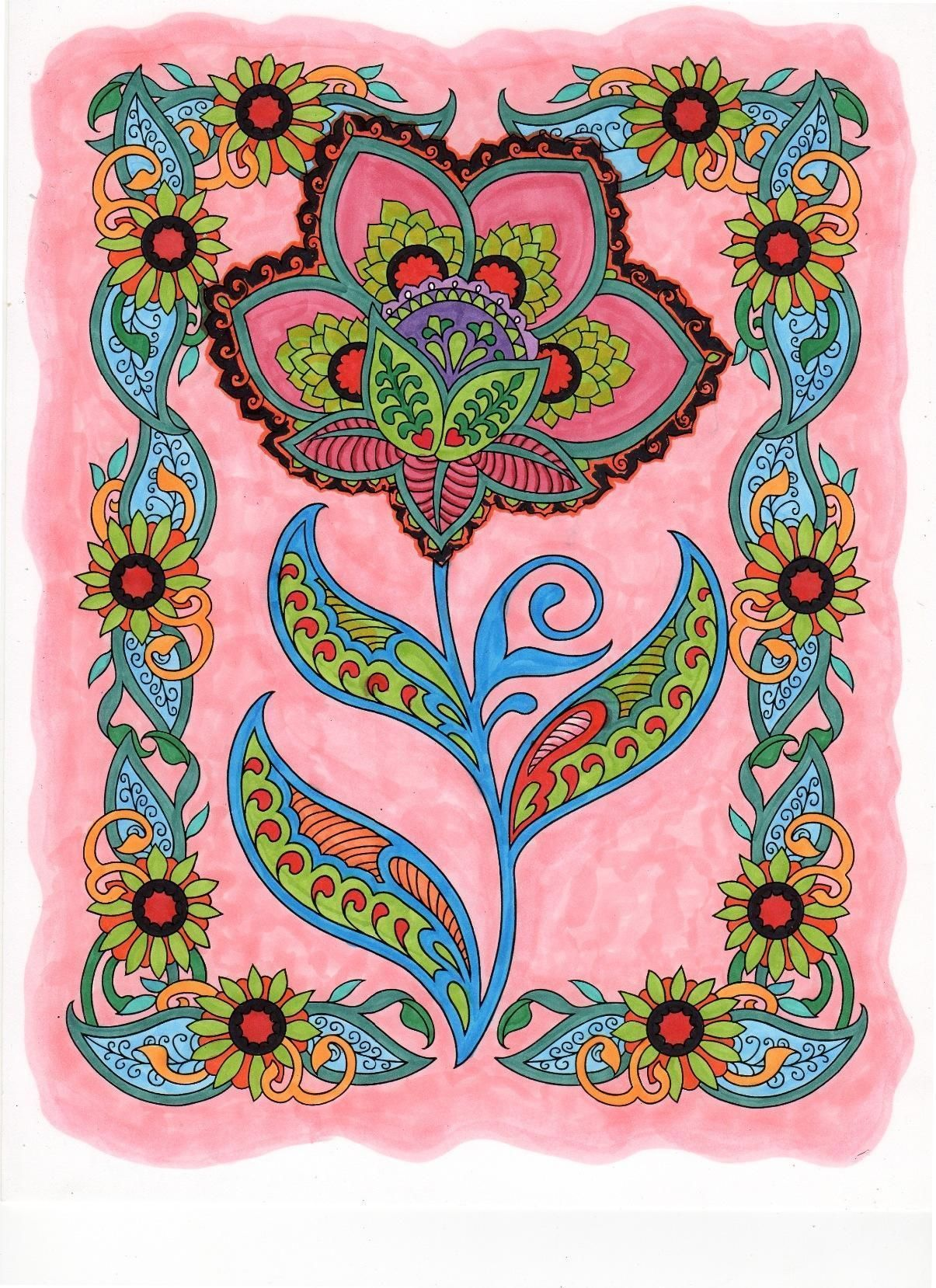 Dover Creative Haven Mehndi Designs Coloring Book Adult Marty Noble