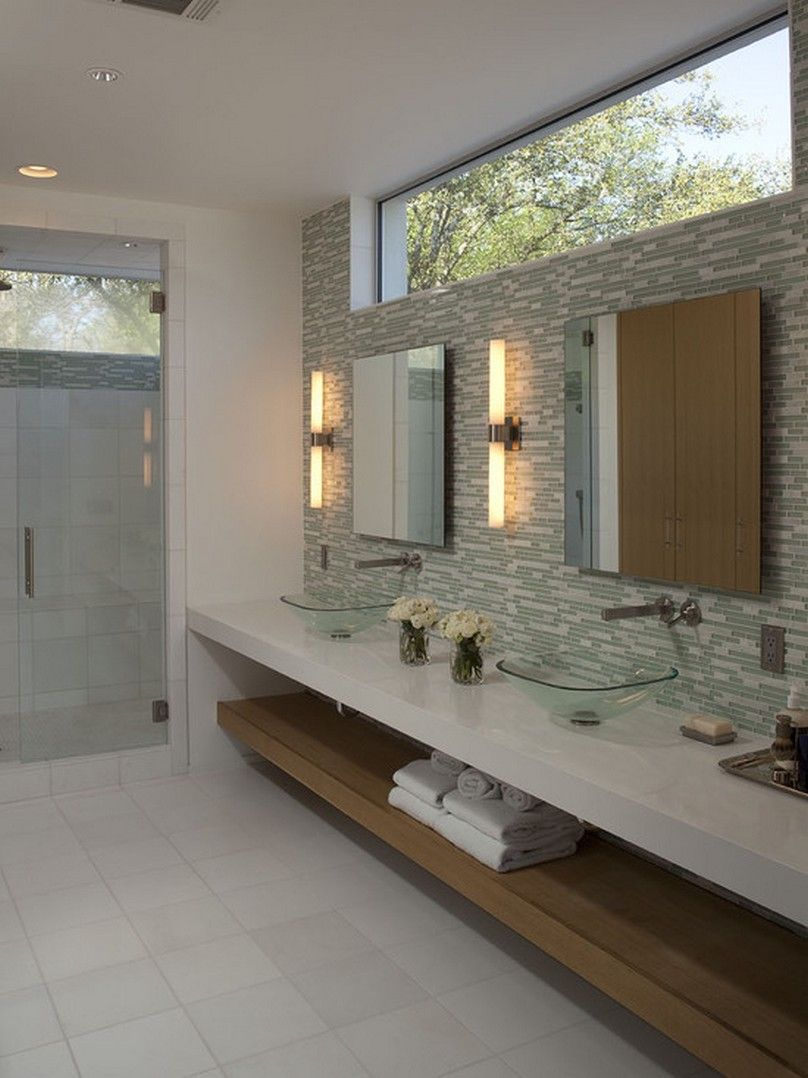 Bathroom Luxury Mirrors With Lights And Recessed