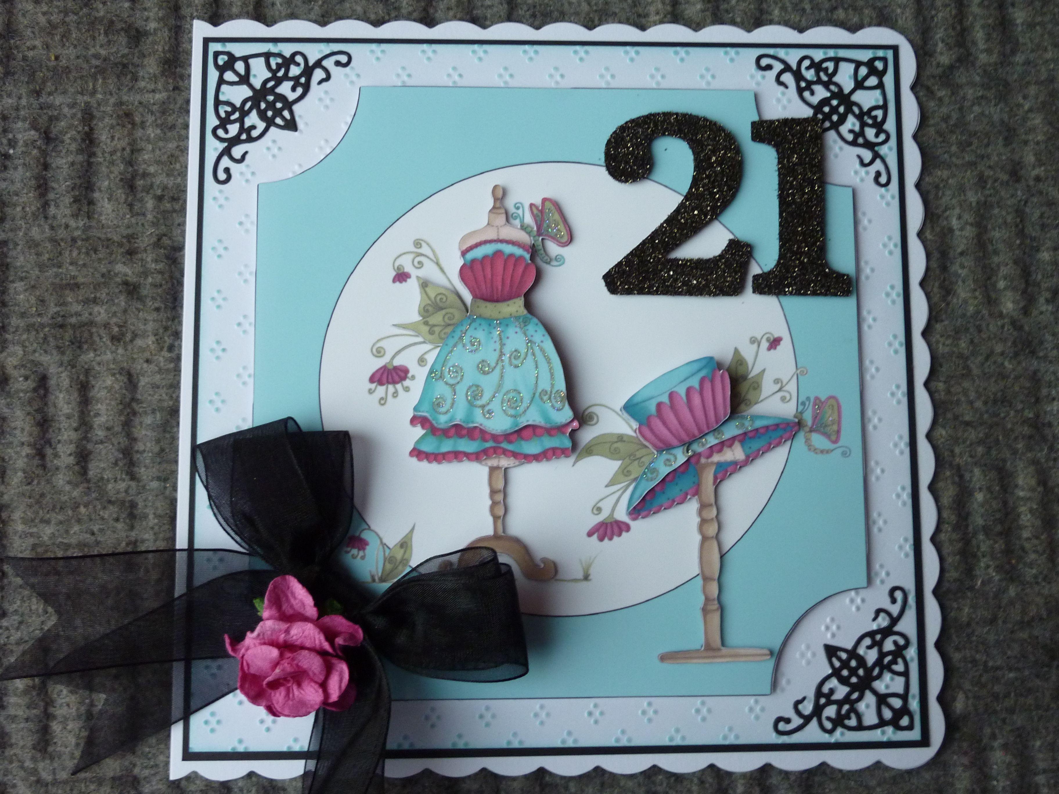 21st Birthday card using Fabulous Fashion image