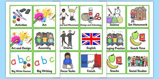 KS2 Visual Timetable Organisation for Classroom and Teacher - class timetable