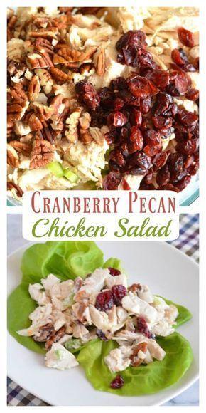 Hausgemachter Cranberry Pecan Hühnchensalat  – Chicken recipes