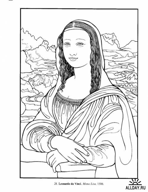 Art Masterpieces To Color 60 Great Paintings From Botticelli Picasso Dover Colouring Books