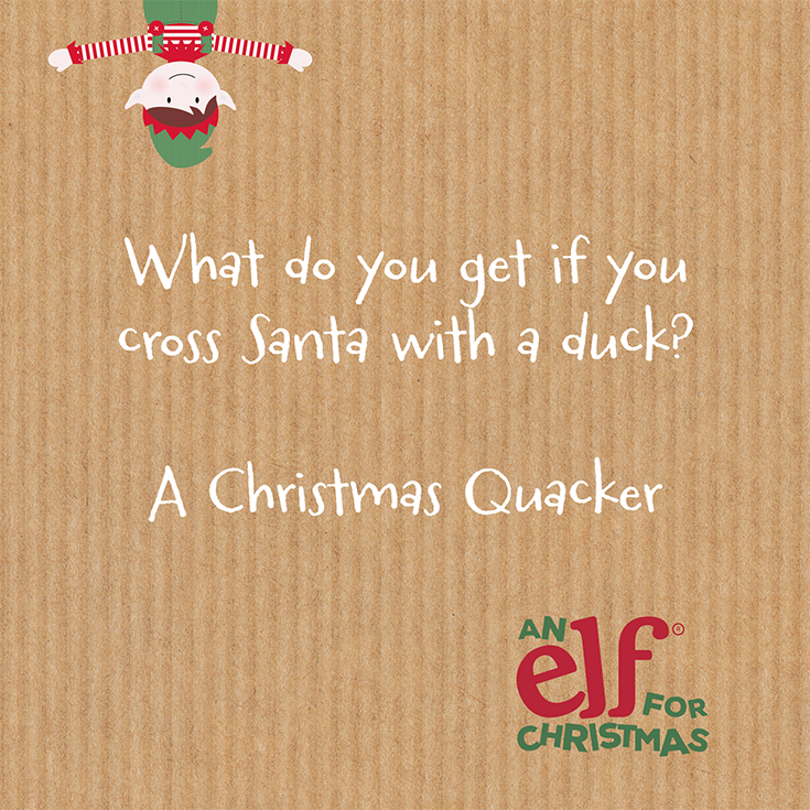 Christmas elf jokes What do you get if you cross Santa