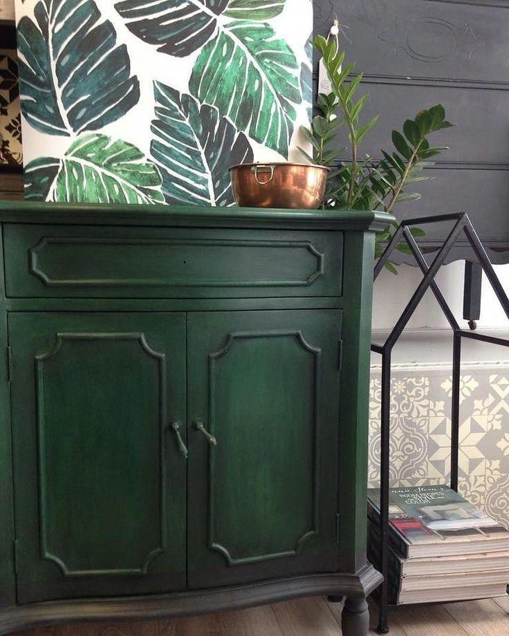 Strong Bold And Stately Chalk Paint In Amsterdam Green Is A Wonderful Way To Bring A Healthy Green Painted Furniture Painting Shutters Colorful Furniture