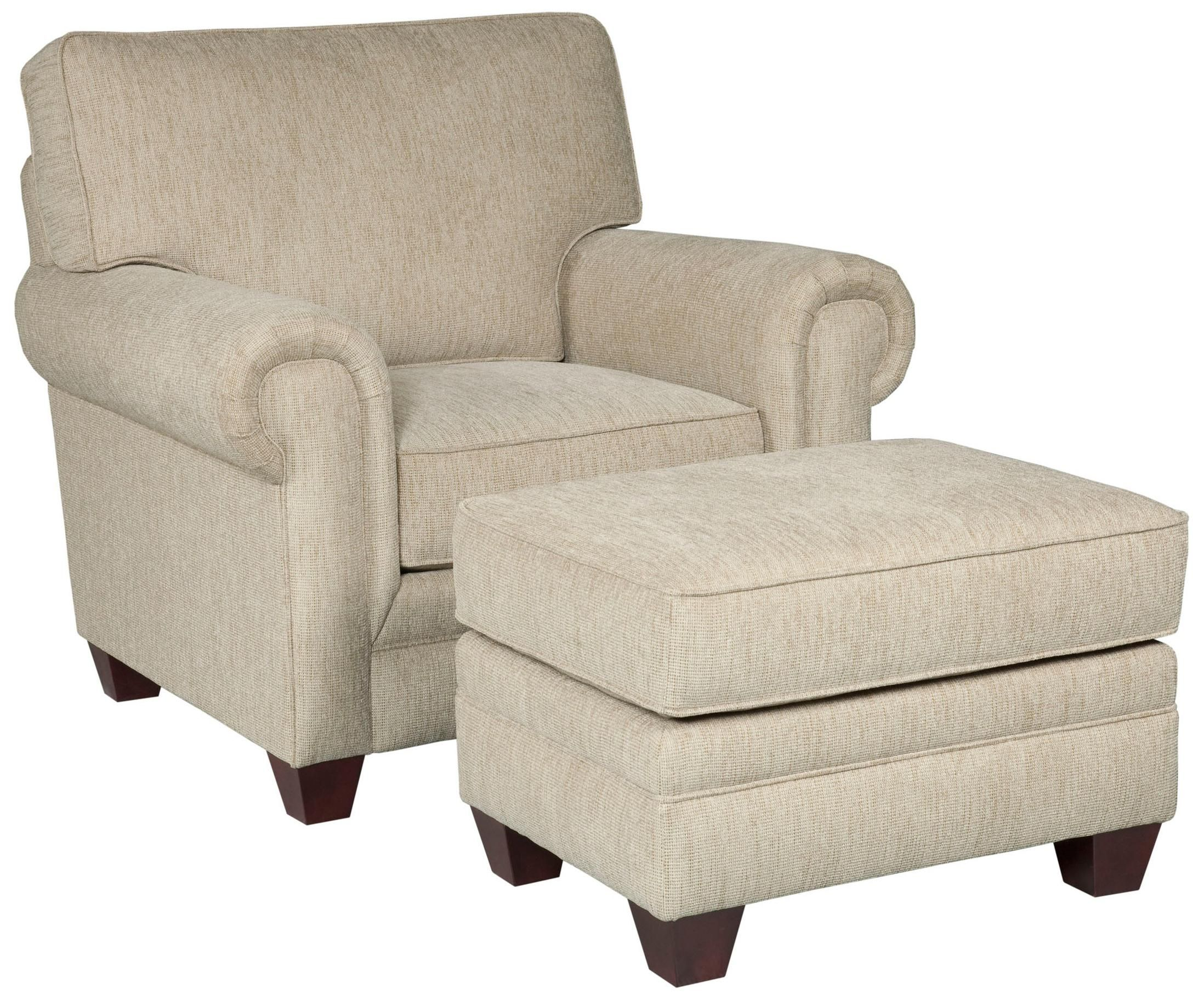 Ordinaire Monica Chair And Ottoman By Broyhill Furniture
