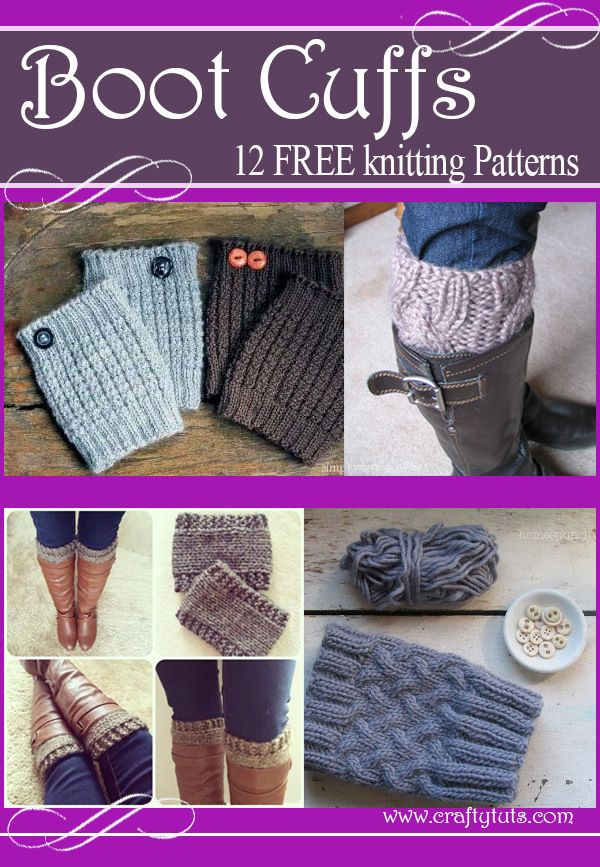 Boot cuffs free knitting patterns | Tejido, Dos agujas y Puños