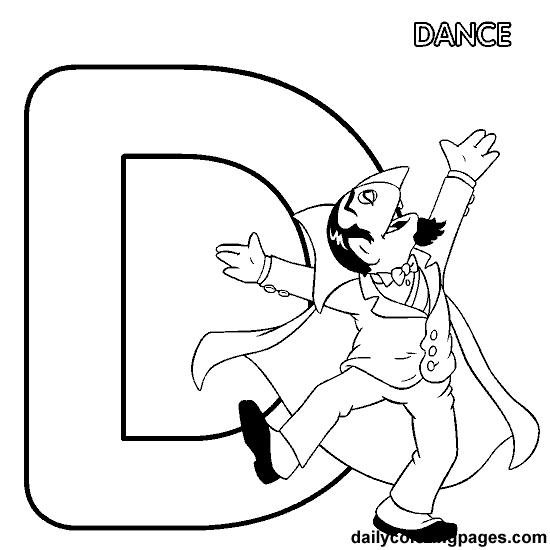 D Count Alphabet Letters To Print Dance Coloring Pages Sesame Street Coloring Pages Bird Coloring Pages