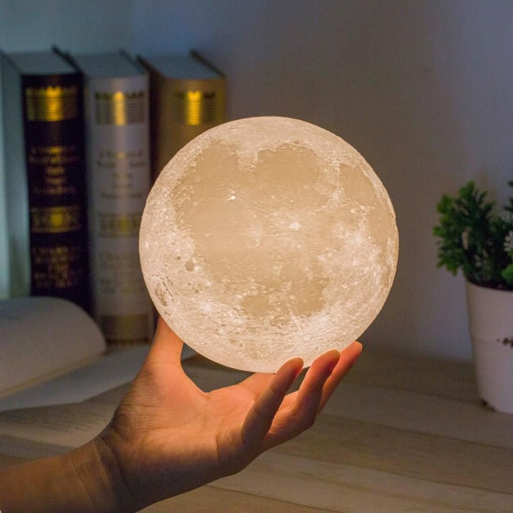 Bring The Moon Out Of The Night Sky And Into Your Home With This Elegant Enchanting 3d Lunar Moon Lamp This S Moon Light Lamp Night Light Lamp Moon Nightlight