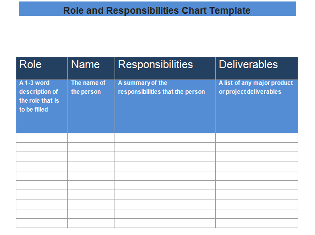 get role and responsibilities chart template word excel project