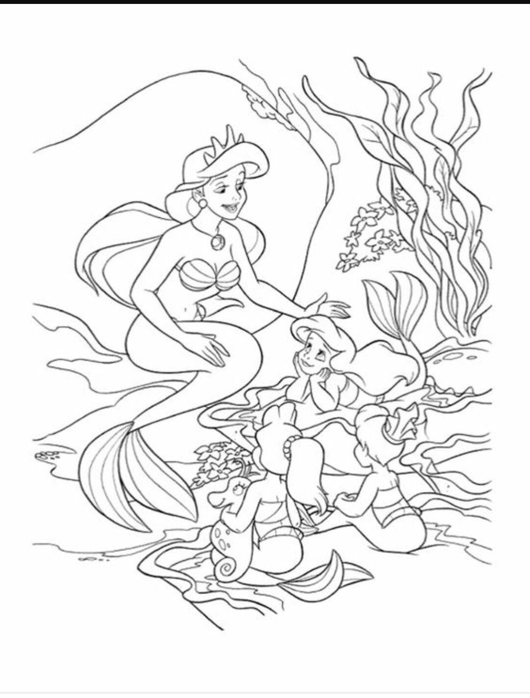 Atemberaubend Disney Druckbare Malvorlagen Ariel Bilder ...