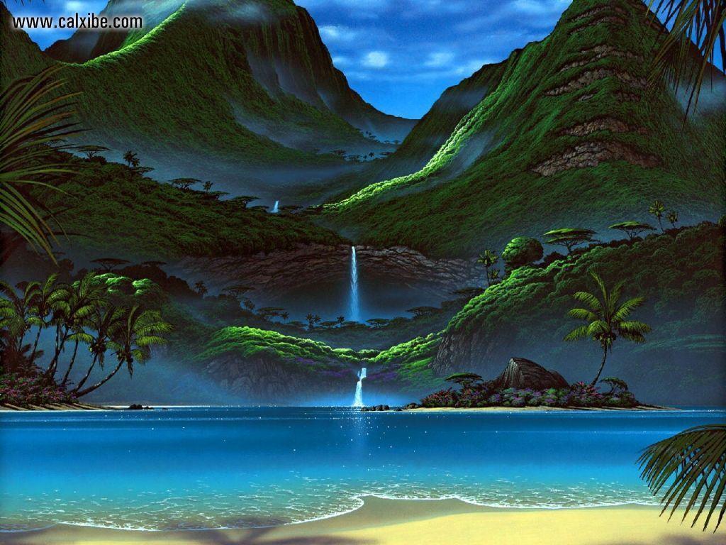 Tropical Paradise Beach Hd Wallpaper For Nexus 7 Screens: View Water Dance Tropical Jewel In Full Screen