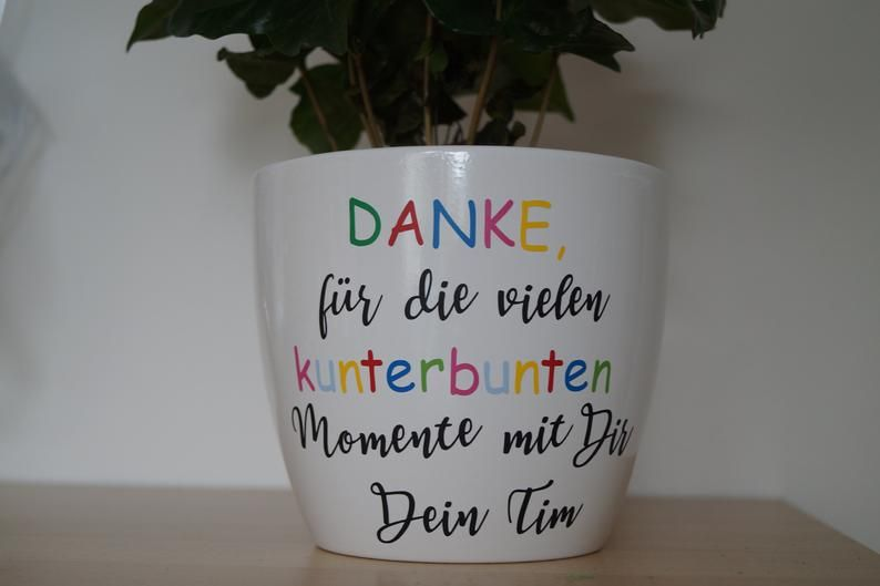 Flower pot, overpot with saying, gift for educator, farewell gift educator