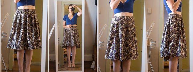 free tutorial pleated skirt