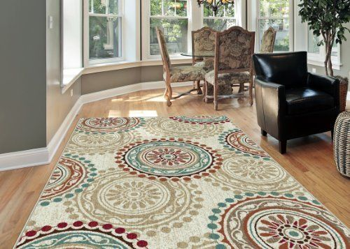 Universal Rugs 1011 Deco Transitional Area Rug 7 Feet 10 Inch By 10 Feet 3 Inch Ivory Contemporary Area Rugs Transitional Area Rugs Area Rugs