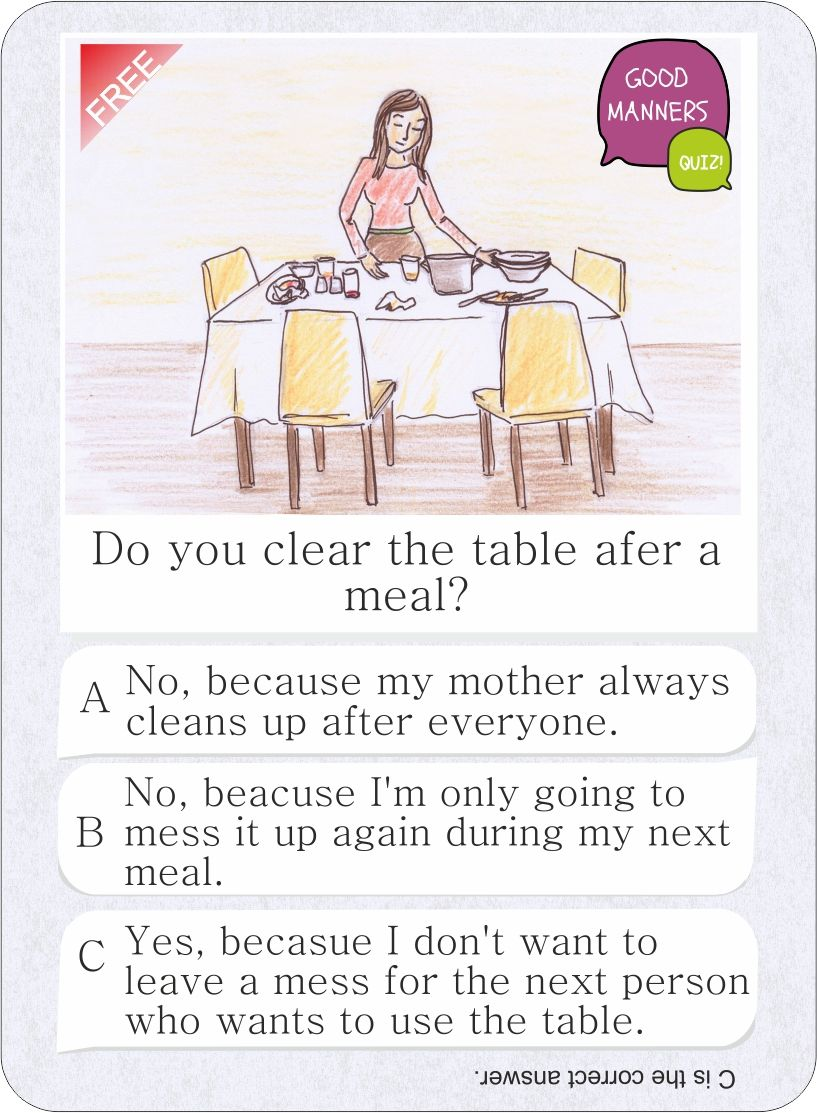 Do you clear the table afer a meal? Get the iPhone