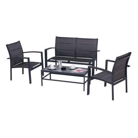 Salon de jardin Sofa Modulo Gris comprend : 1 sofa pour 2 personnes ...