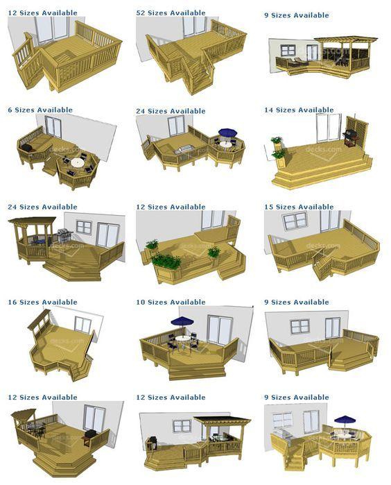 Porch Deck Designs Deck Plan Pictures Are Courtesy Of Decks Com To Purchase Deck Plans Patio Deck Designs Decks Backyard Decks And Porches