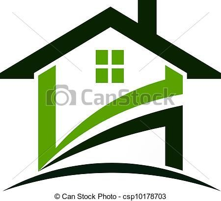 vector green house swoosh stock illustration royalty free rh pinterest com house pic clipart
