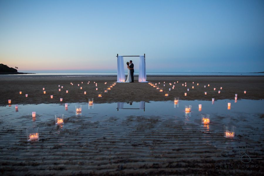 Night Beach Wedding Ceremony Photo At Greens Tasmania The Most Perfect