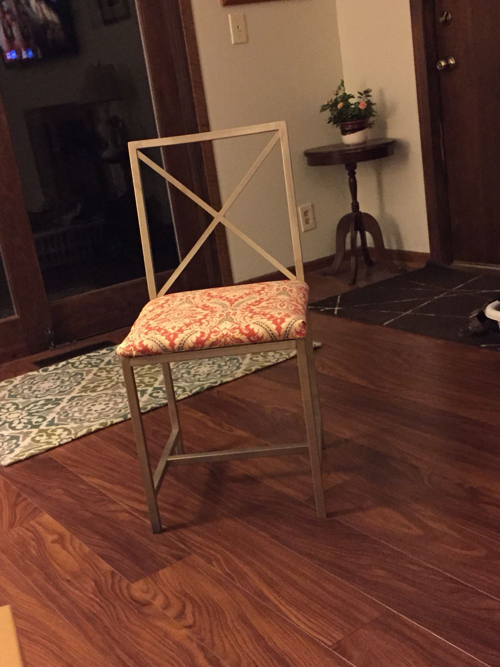 Peachy Repurposed Ikea Granas Dining Chair One Can Gold Matte Beutiful Home Inspiration Aditmahrainfo