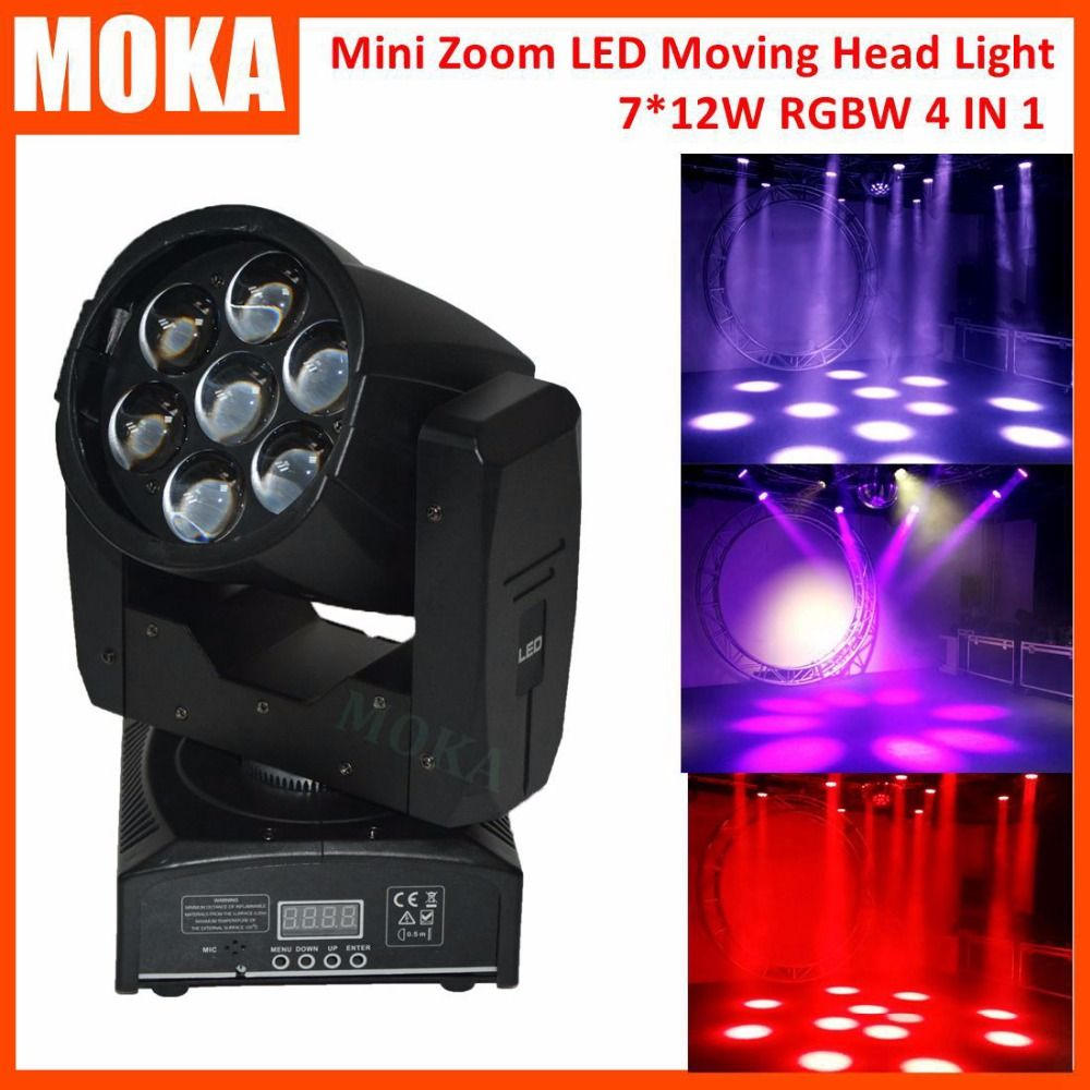 7*12W Led Zoom Focus Moving Head Light 95W RGBW 4IN1 Led